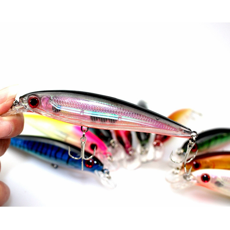 Image 3 - 10Pcs wholesale hot sale Fishing lures japan kit pesca VMC hooks Carp tackle Bait Artificial fish fishing wobblers 12Cm13.4g-in Fishing Lures from Sports & Entertainment