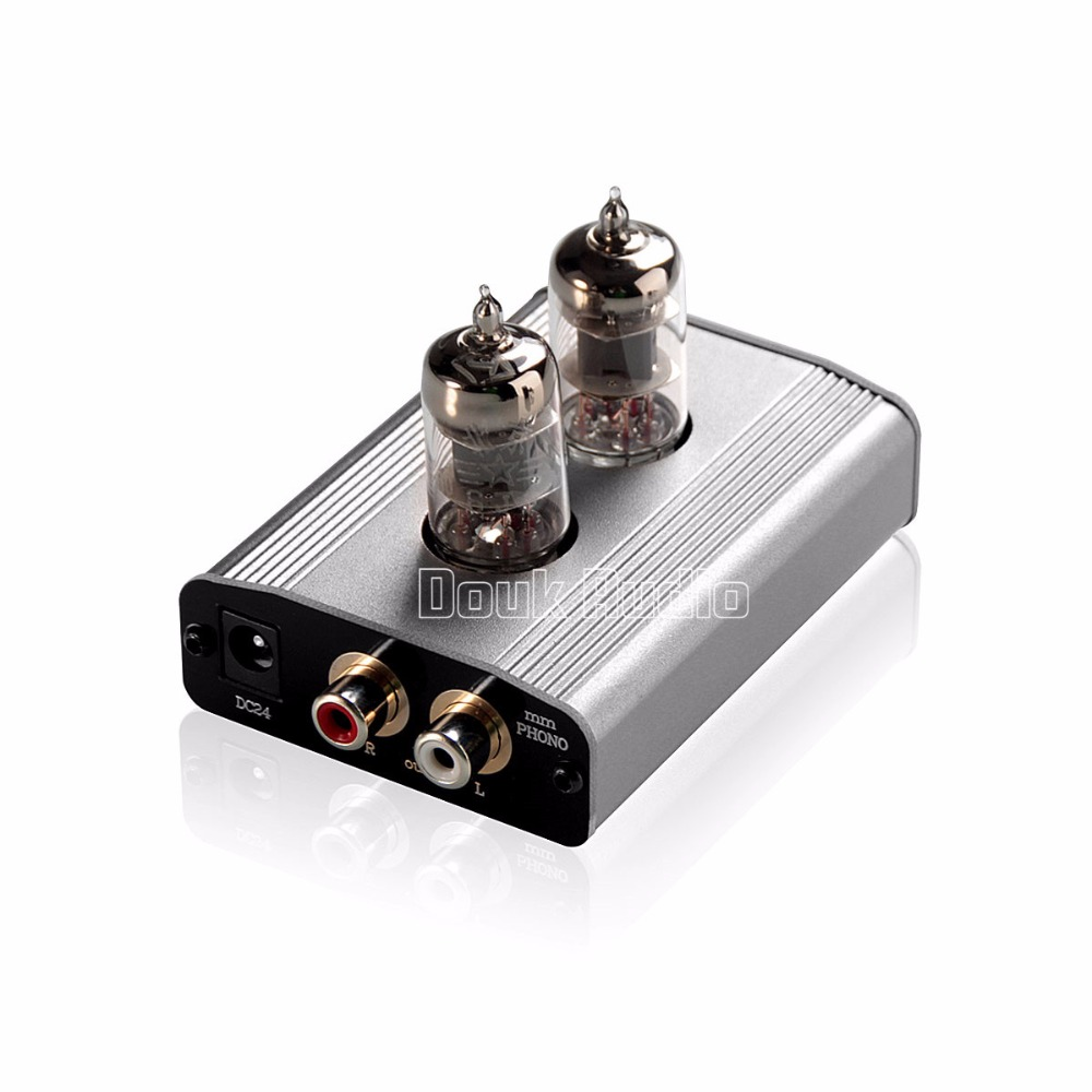 Douk Audio Latest Mini 6J1 Vacuum Tube Phono Turntable Preamp MM / MC RIAA Hi-Fi Class A Preamplifier Free Shipping douk audio latest muzishare x7 push pull stereo kt88 valve tube integrated amplifier phono preamp 45w 2 power amp