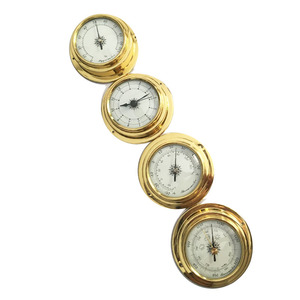 Image 2 - Hight Quality 4 Inches 4 PCS/set 9193 Thermometer Hygrometer Barometer Watches Clock  Weather Station