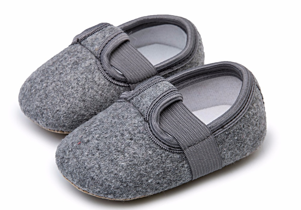 New arrival solid flock pu leather baby moccasins shoes baby girl boy shoes soft sole shallow first walkers 0-18 months 5 colors