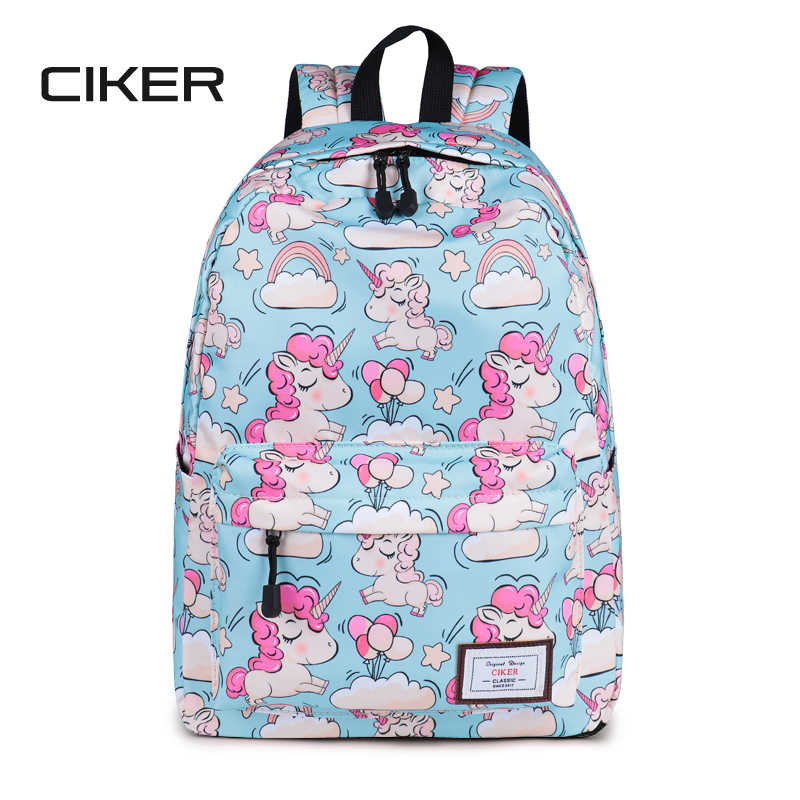 e02a8073c250 CIKER Lovely Unicorn Printing Backpack Women Waterproof School Bags For  Teenagers Ladies Casual Cute Rucksack Bookbags