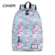 купить CIKER Lovely Unicorn Printing Backpack Women Waterproof School Bags for Teenagers Ladies Casual Cute Rucksack Bookbags Machilas дешево
