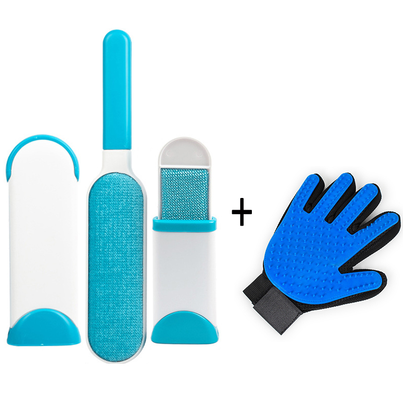 Image 2 - Pet Cleaning Kit Surprise Offer Pet Grooming Glove Hair Remover Brush Gentle Deshedding Pet Massage Gloves Perfect For Dogs Cats-in Dog Combs from Home & Garden