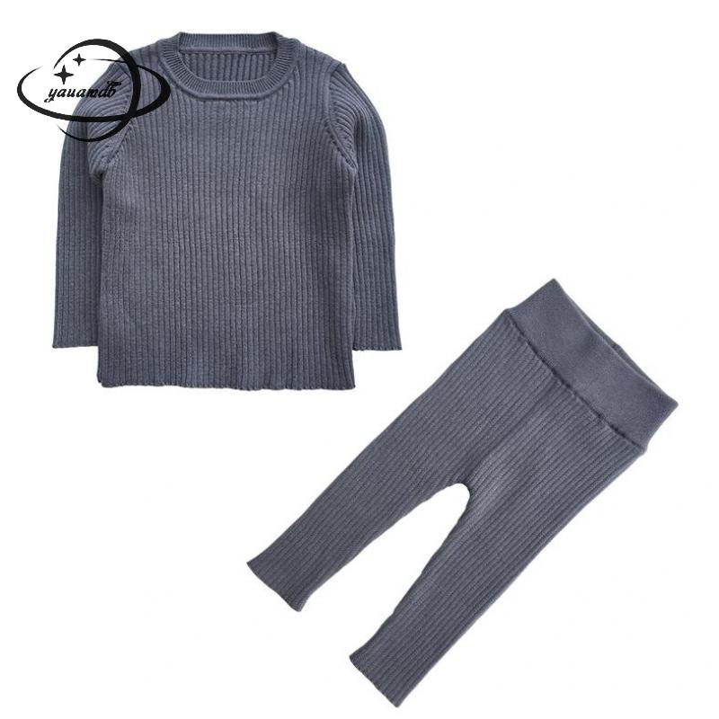 404cdb59e YAUAMDB kids clothing set spring autumn 18M-5Y boys girls knitwear 2pcs  suits baby sweater+pants pullover children clothes ly62 ~ Best Seller June  2019
