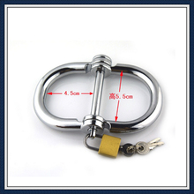 Free Shipping Stainless Steel HandCuffs Sex toys for Couples,Metal silver color Sexy fetish erotic