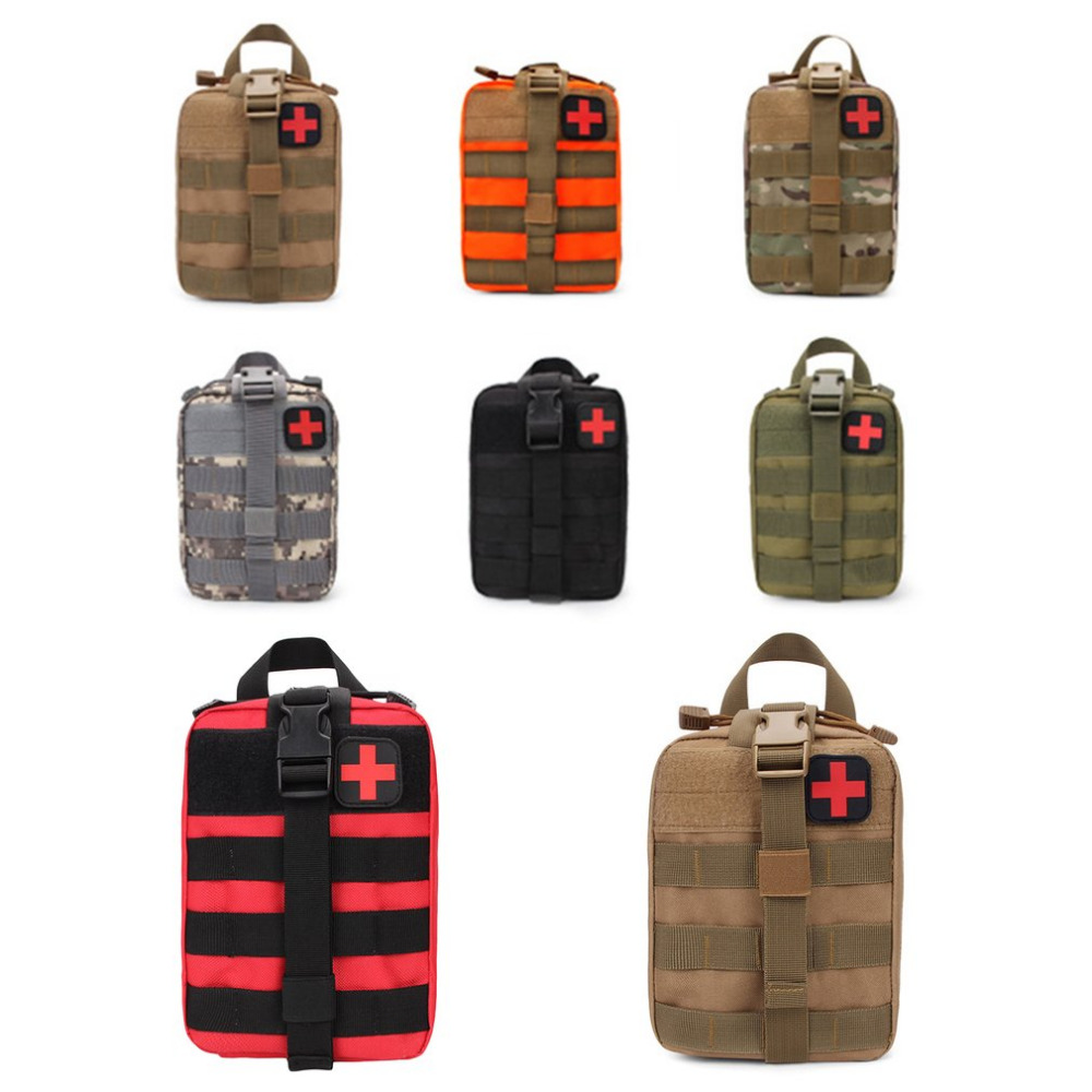 7 Color Outdoor EDC Molle Tactical Pouch Bag Emergency First Aid Kit Bag Travel Camping Hiking Climbing Medical Kits Bags