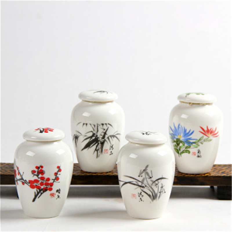 Captivating New Mini Tea Pot Blue And White Porcelain Small Tea Storage Jar Tea Caddy  Container Ceramic Jar Tea Kitchen Canister Set In Storage Bottles U0026 Jars  From Home ...