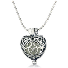 Gift Blue luminous Glow Hollow Love Heart Pendant Necklace Jewelry