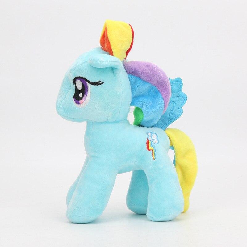 6pcs My Little Pony Toys Friendship is Magic Princess Cadence Celestria Rainbow Dash Pinkie Pie Pony Plush Soft Stuffed Dolls