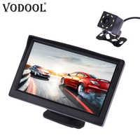 """VODOOL Auto Videocamera vista posteriore di Retromarcia Sistema di Parcheggio Kit 5 """"pollici TFT LCD Monitor di Rearview Impermeabile di Visione Notturna della Macchina Fotografica di Backup"""