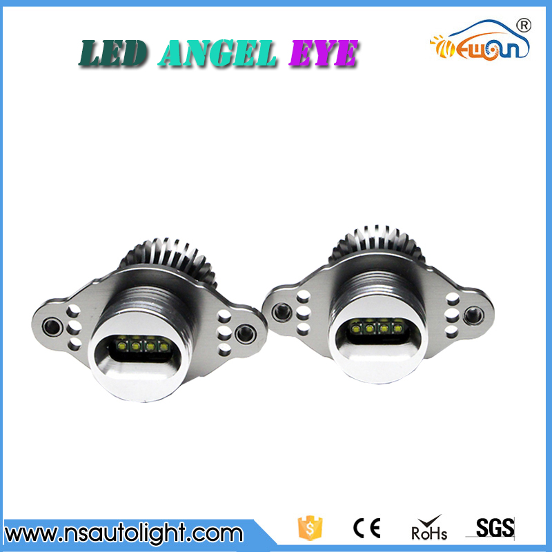 Auto new Cree CHIPs 20w E90 E91 XENON/HALOGEN led angel eyes 7000k super white 8 led marker angel lights halo ring bulb for cars