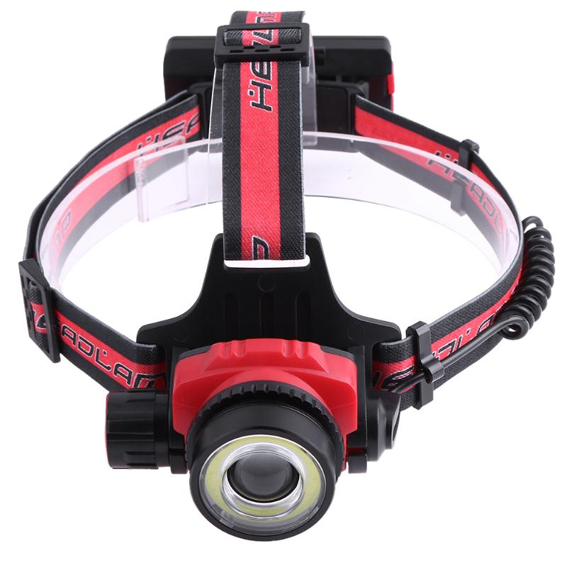 4 Modes COB LED Zoomable Led Headlight Rechargeable Head Lamp Strong Light Flashlight LED Waterproof Fishing Camping Lights