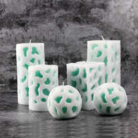 Nicole Silicone Soap Candle Mold 3D Openwork Decoration Handmade Soap Mould