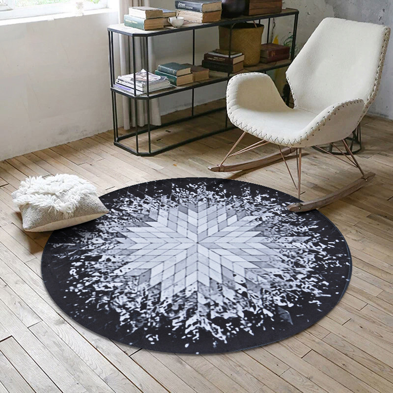 Geometric Splash Abstract Round Carpet Home Decor Bedroom Carpet Computer Chair Rug Home ...