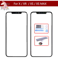 10pcs/lot High Quality For iPhone X XR XS XS Max Front Panel Outer Glass Lens LCD touch Screen Panel Parts Glass Replacement