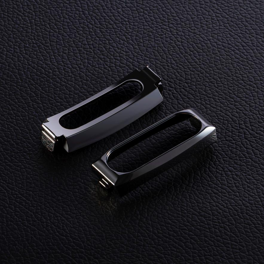 Best Price ! Superior Quality Replacement Wristband Band Strap + Metal Case Cover For Xiaomi Mi Band 2 Bracelet hot DEC15