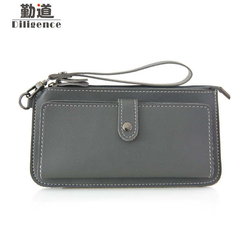 Leather Clutch Bags Coin Purse Women Long Wallets Simple Fashion Phone Bag Multifunctional id Credit Card Holder 2016 hot fashion women wallets double zipper bag solid pu leather men long coin purse brand clutch lady cash hold phone card