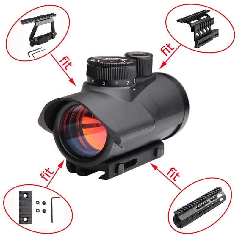 Red Dot Portata di Vista Olografica 1x30 millimetri 11 millimetri e 20 millimetri Guida Del Tessitore di Montaggio per Tattica di Caccia doppio Lato AK Scope Sight Monti