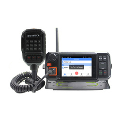 4G Android red transceptor GPS Walkie Talkie SOS Radio 4G POC de Radio móvil Anysecu N60plus Android coche Movile radio