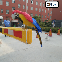 new cute real life red&blue parrot model foam&feather little wings bird gift about 30cm xf0115