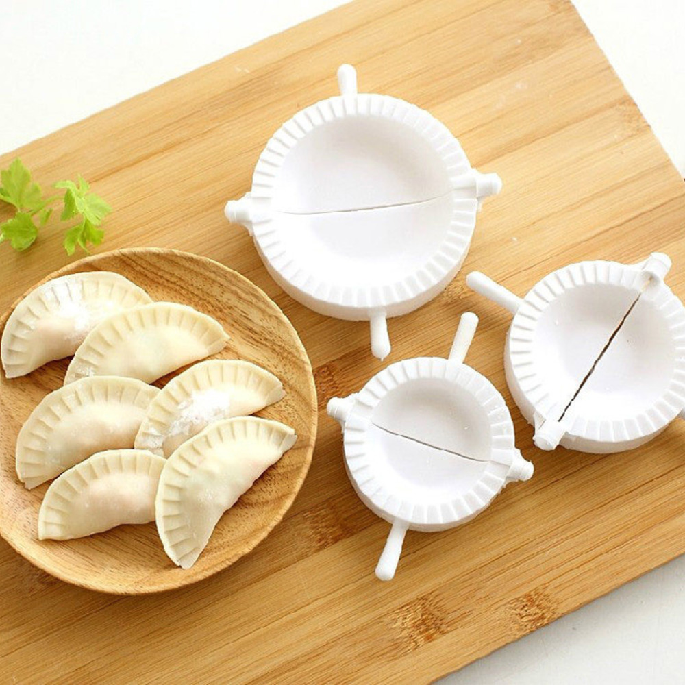 Tools stainless steel wraper dough cutter pie ravioli dumpling mould - 2016 New 3pcs Dumpling Mould Dough Press 3 Size Ravioli Dough Pastry Pie Dumpling Maker Gyoza Mold Hot Sale In Baking Pastry Tools From Home Garden On