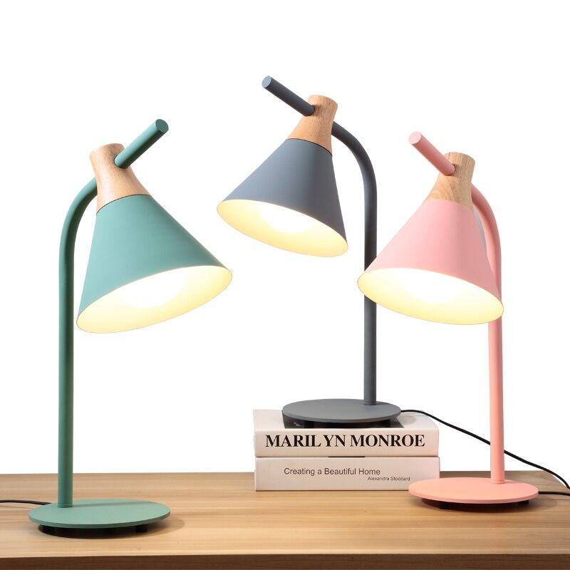 Nordic postmodernen minimalistischen gelb grün grau rosa kreative büro schreibtisch schlafzimmer LED schreibtisch lampe nacht lesen - 4