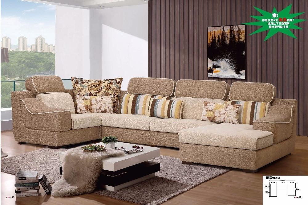 captivating shape sofa living room sets | LDM8093 Modern living room sectional U shape sofa set Anti ...