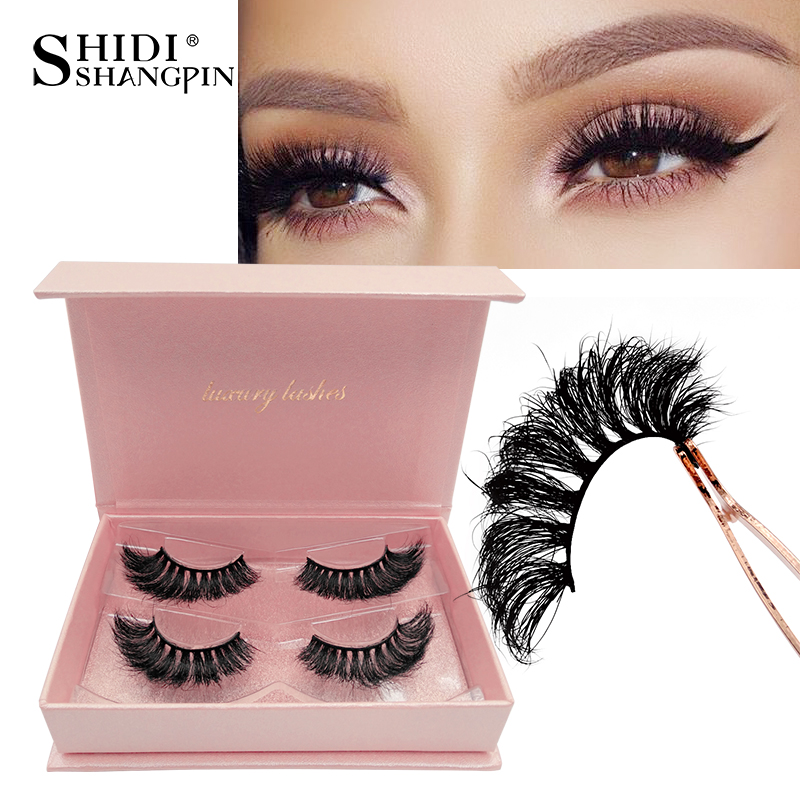 SHIDISHANGPIN 3d Eyelashes Mink Lashes Mink Natural Long Cilios Hand Made False Eyelashes Natural Fluffy Fake Lashes Luxury #802
