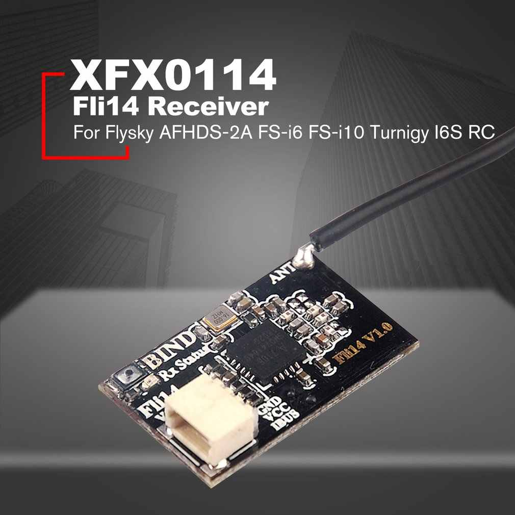 Fli14 14CH Mini Receiver with OSD RSSI Output for Flysky AFHDS-2A FS-i6  FS-i10 Turnigy I6S Transmitter RC Drone Quadcopter HOT!