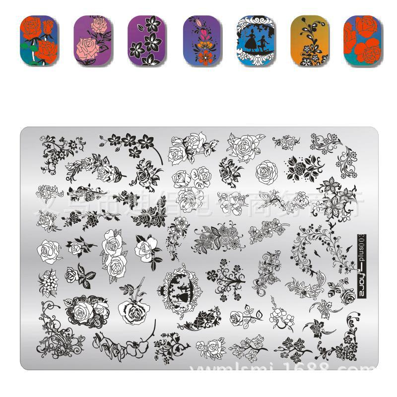 003 zjoyplus Rose Flower Design Sticker Nail Art Stamp Stamping Image Nail Art Decorations Stamp DIY Polish Stamp Nail Art Tool in Nail Art Templates from Beauty Health