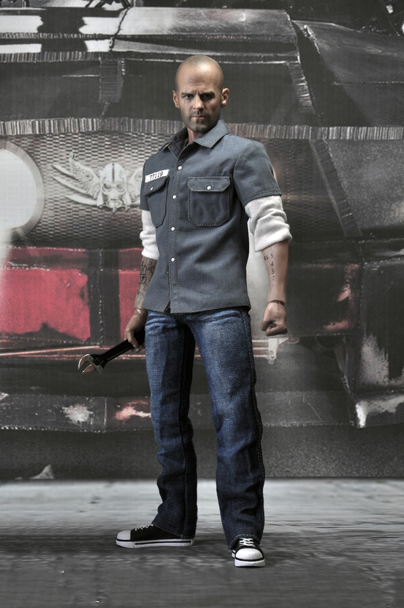 1/6 EX004 Death Race Driver Frankenstein Jason Statham Full Set Action Figures with Tattoo and Two Sets of Clothes Models Collec