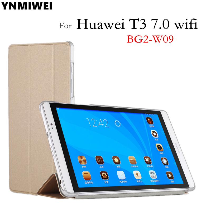 Case For Huawei Mediapad T3 7 Wifi BG2-W09 Tablet Flip Case for Honor Play Pad 2 7.0 protective cover skin +Free Gift