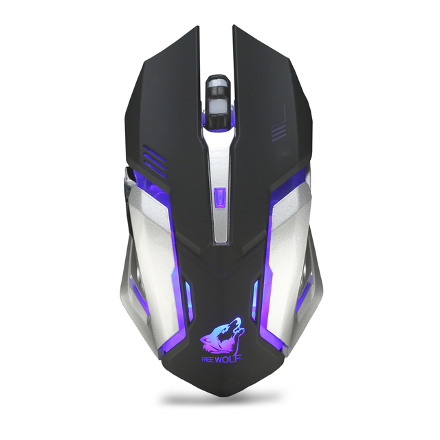 cfbfbd57352 X7 2.4GHz Wireless Rechargeable LED Backlit Mouse USB Optical 6 Buttons Ergonomic  Silent Gaming Mouse Gamer 1600DPI PC Laptop