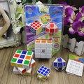3 unids/lote Cubos Mágicos 3x3x3 Puzzle Velocidad del Bloque Del Eje Cubos Cubo de Juguete De Aprendizaje y la Educación los Regalos de los Niños