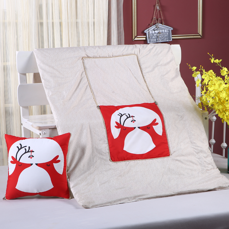 Cushion Blanket cushion dual purpose pillow multi-functio blanket carton child adult printed sofa bed home car Dec FG655
