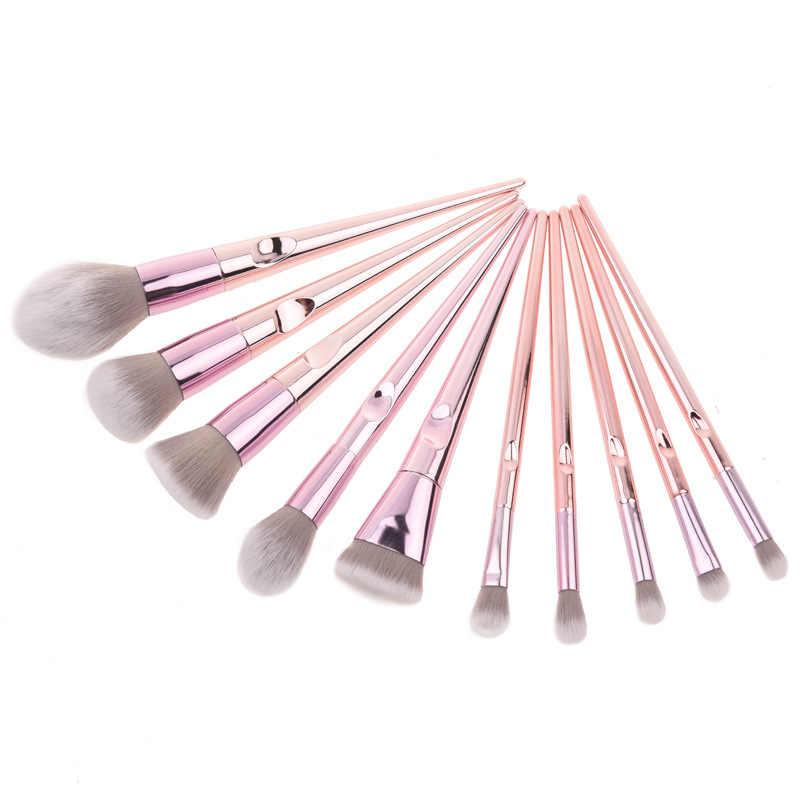 O. TWO. O pinceaux de maquillage Set professionnel 10 pcs/lot ombre à paupières mélange Eyeliner cils sourcil brosse pour outil de maquillage