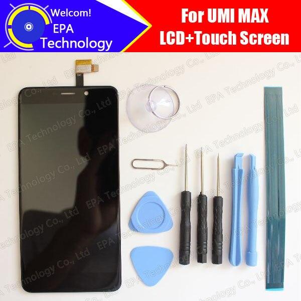 Umi Max Display LCD + Digitador Da Tela de Toque Original de 100% Testado LCD Painel de Vidro da Tela Para Max + ferramentas + adesivo