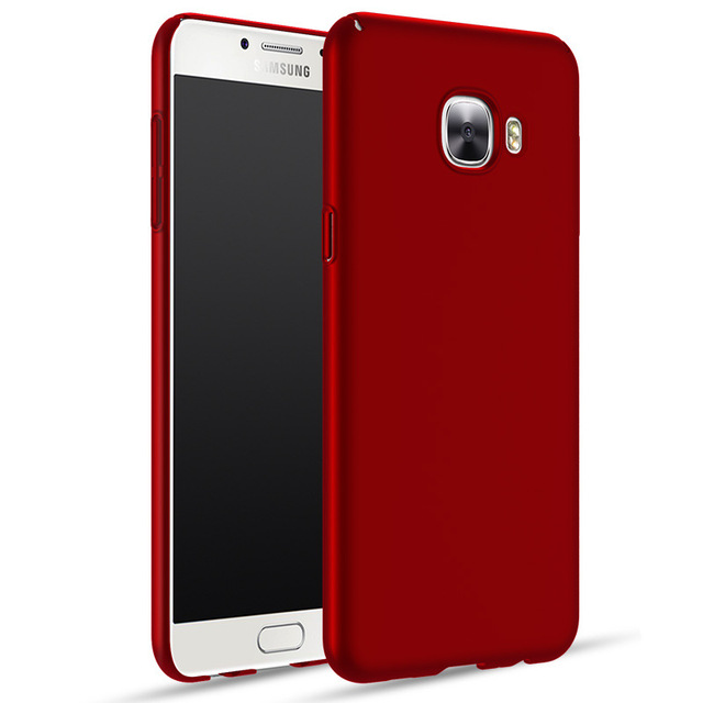 sale retailer d5190 b28c2 US $3.99  Fashion Housing For Samsung Galaxy C7 Case With Ring Phone Stand  Holder 360 Full Protection Matte Hard Plastic Slim Back Cover-in Fitted ...