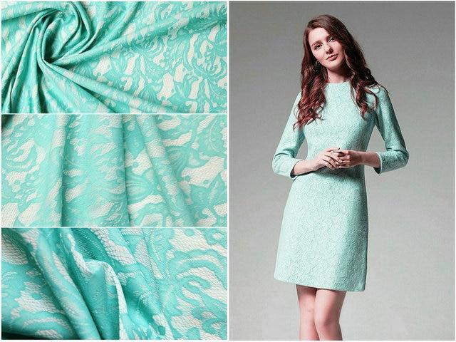Mint green verbund spitze stoff jacquard stoff kleid Chinesische ...