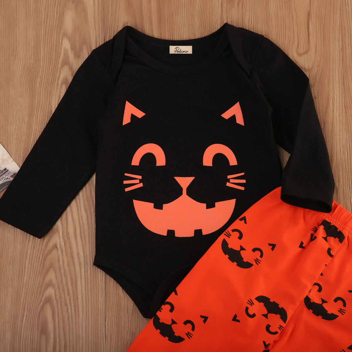 halloween toddler baby boys girls costume long sleeve cat face