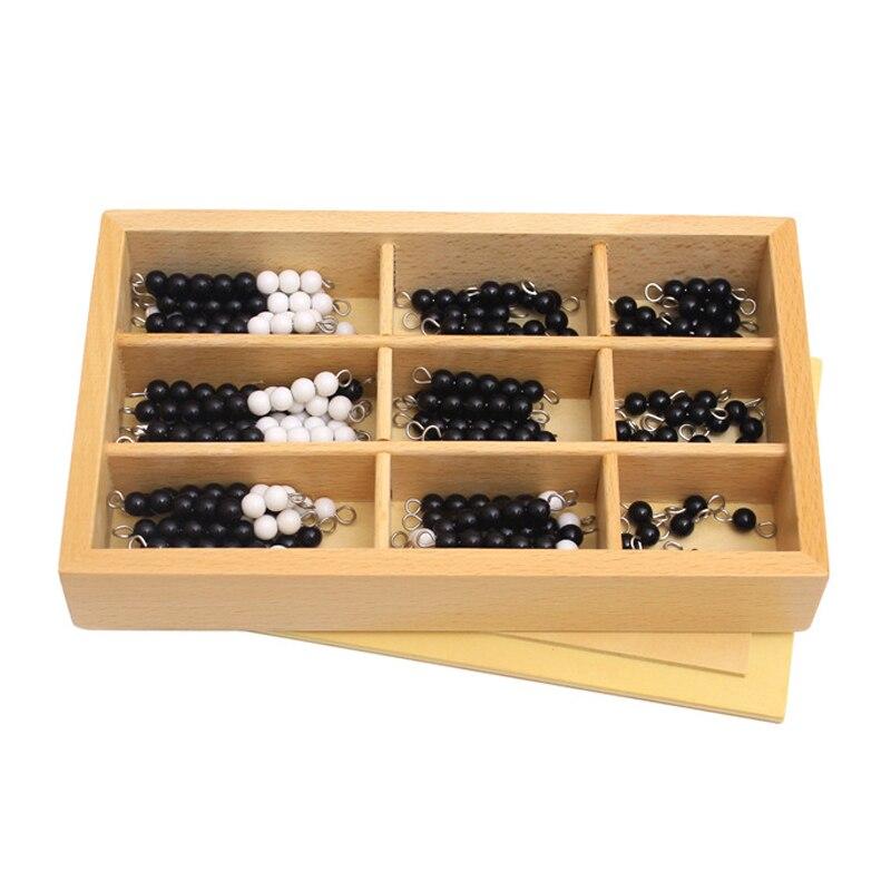 Montessori éducatif en bois jouet noir et blanc damier conseil perles mathématiques jouets petite enfance préscolaire formation apprentissage jouets
