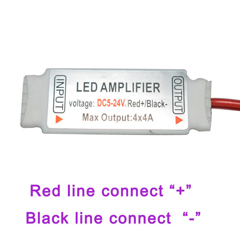 Dc5 24v Mini Rgbw Led Amplifier 4a X 4 Channel Rgbw Led Amplifier Repeater Controller For Smd 5050 Rgbw Led Strip Light