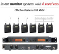 6 Pack Receivers + Wireless In Ear Monitor System SR 2050 IEM SR2050 In Ear Monitor System
