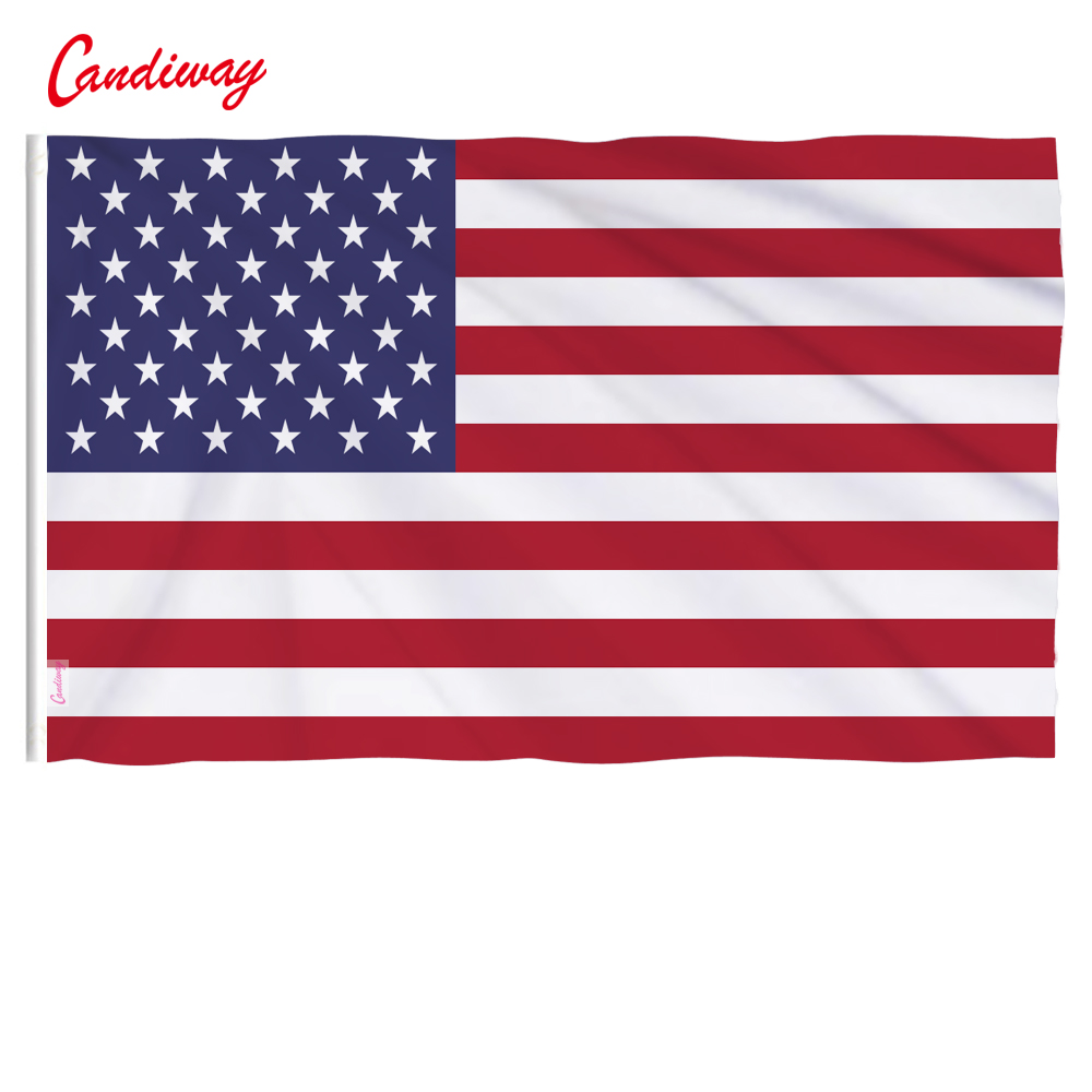 90 x 60cm  America  polyester the flag of  the United States in the USA stars stripe outdoor interior decoration NN004