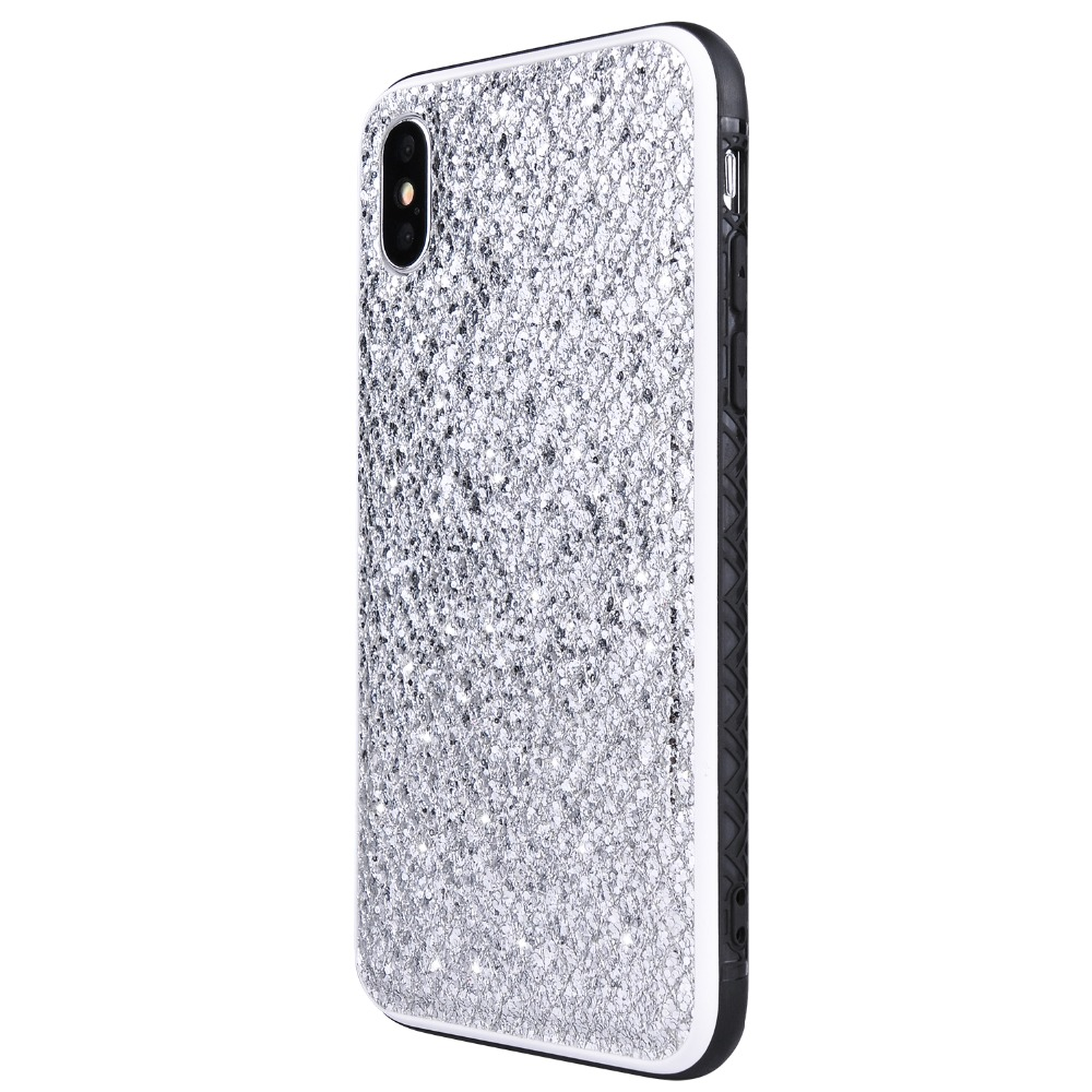 Fashion Bling Mobile Phone Case for iphone 7 8 Plus Case Luxury 2 colors Grid Glitter Knitted Phone Cover for iphone 6/6s/7/8/x