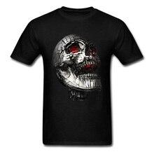 100% Cotton Men's Tshirt No Laughing Matter T-shirts Street Heavy Metal Skull Punk T Shirt New Arrival Round Neck Streetwear no matter no fact