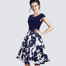 Summer Ladylike Stretchy Elegant Patchwork Vintage O-Neck Cute Sleeveless  Womens Gorgeous Ball Gown Casual Dress A009 87102b7caa22