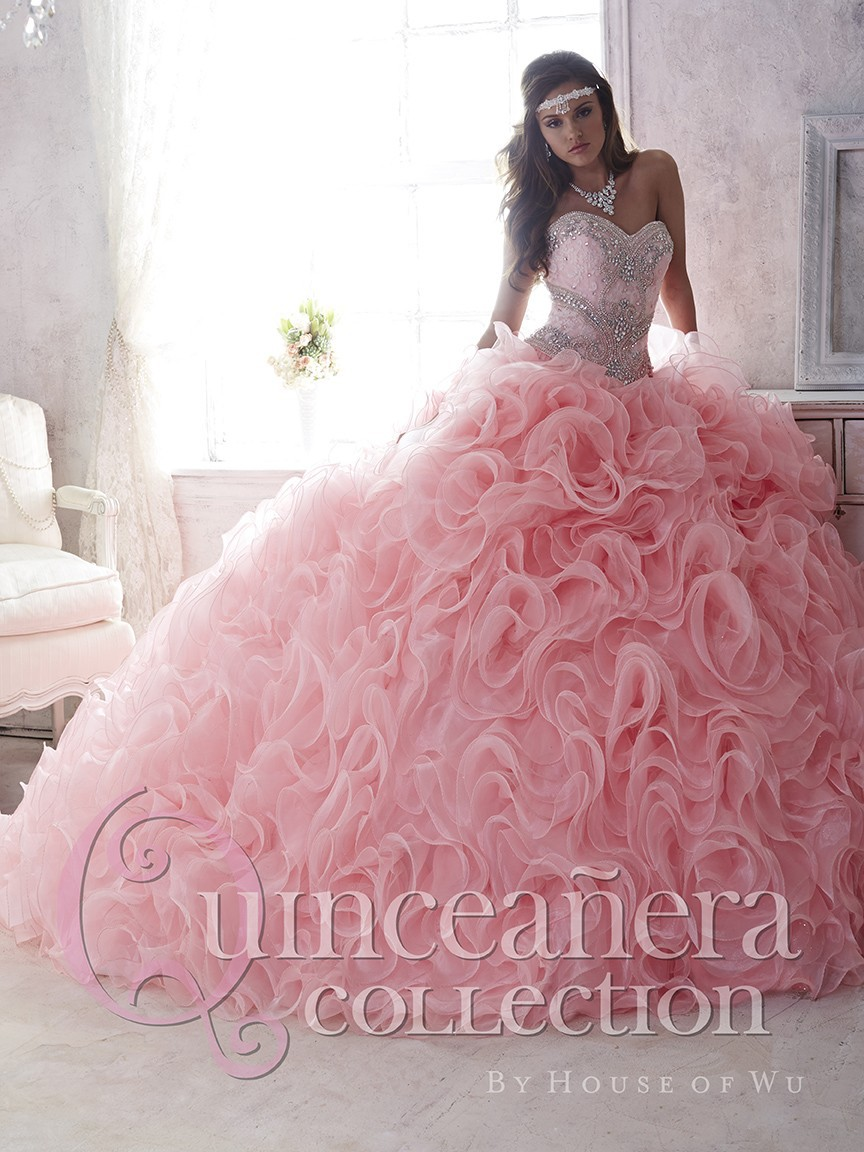 Hot Pink Quinceanera Ball Gowns 2019 Sweetheart With Delicate Crystal Beaded Fashion Formal Prom For Girls   bridesmaid     dresses