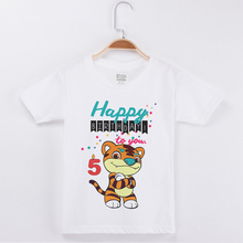 Limited Time Discount Tiger Printing Clothes For Boys Birthday T Shirt Cotton Kids Costume Girl Tops Children Boy Tees Clothing