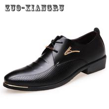 2017 New Fashion Formal Mens Dress Shoes Pu Leather Black Wedding Shoes Men Flats Office For Male High Quality Comfortable Shoes